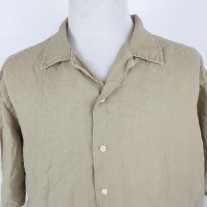 Polo Ralph Lauren XXL Linen Silk S/S Shirt Beige